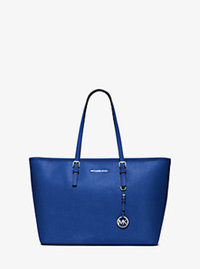Jet Set Travel Medium Saffiano Leather Top-Zip Tote - ELECTRIC BLUE - 30T5STVT2L