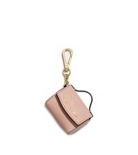 Ava Saffiano Leather Coin Purse Keychain - BALLET - 32F5GKCK3L