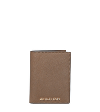 Jet Set Travel Saffiano Leather Passport - DARK DUNE - 32H5GTVT3L
