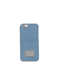 Saffiano Leather Pocket Smartphone Case - SKY - 32S5SELL3L
