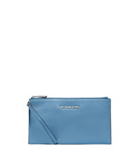 Bedford Large Leather Zip Wristlet - SKY - 32T4SBFW7L