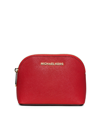 Cindy Saffiano Leather Travel Pouch - RED - 32T5GCPM2L