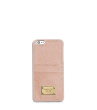Saffiano Leather Pocket Smartphone Case - BALLET - 32T5GELL3L